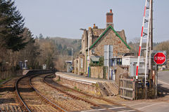 Rural Railway Station in Devon UK Stock Images