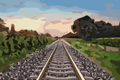 Rural railway track Stock Image