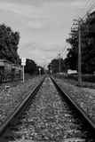 Rural Railway Track Royalty Free Stock Photography