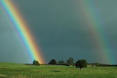 Rural Rainbows Royalty Free Stock Image