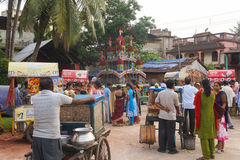 A Rural Rath Yatra. Indian Festival Stock Image