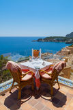 Rural Restaurant with Sea Views. Restaurant with Sea Views in Majorca, Spain Stock Image