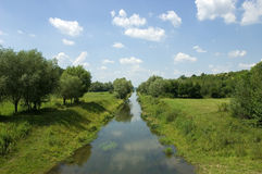 Rural river Stock Images