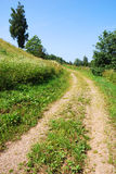 Rural road. Simple rural road leading up into the hill Stock Photography