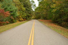 Rural Road. Peaceful road running through the Smokies in Tennessee stock photos