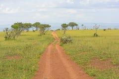 Rural Road in the African Veldt Stock Image