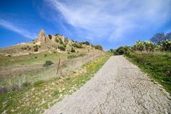 Rural Road in Andalusia Countryside Royalty Free Stock Photos