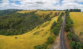 Rural road in Australian countryside Royalty Free Stock Photos
