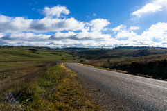 Rural road in Australian outback Royalty Free Stock Images