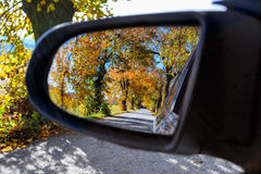 Rural Road in the autumn Royalty Free Stock Photos