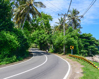 Rural road in Bali, Indonesia Stock Images