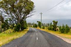 Rural road in Blue Mountains, NSW, Australia Royalty Free Stock Photos