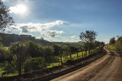 Rural road in Brazópolis - Brazil Royalty Free Stock Photography