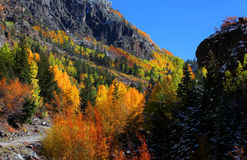 Rural road in Colorado Stock Image