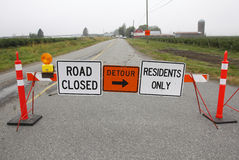 Rural Road Construction Signs royalty free stock images