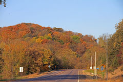 A Rural Road in Fall Colors Stock Image