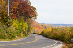 Rural Road in the Fall Stock Photography