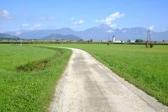Rural road. Road among fields near skofja loka, slovenia Stock Photos