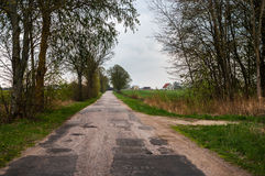 Rural road going into the field Royalty Free Stock Photography