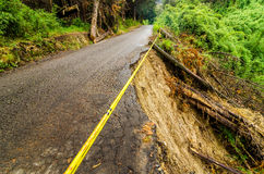 Collapsed Road Royalty Free Stock Photography