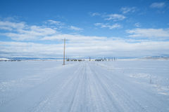 Free Rural Road In Winter Royalty Free Stock Photography - 28555337