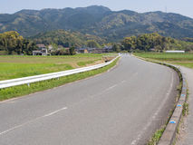 Rural road in japan Royalty Free Stock Image