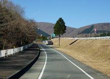 Rural road in Kawaguchi, Japan Royalty Free Stock Photo