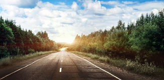 Rural road landscape Royalty Free Stock Images