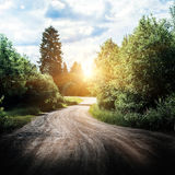 Rural road landscape Royalty Free Stock Photos