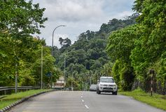 Rural road in Langkawi, Malaysia stock image