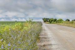 Rural road in Missouri Stock Image