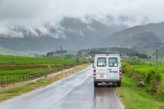 Rural Road at Mu cang chai Stock Image