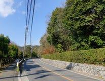 Rural road at the National park in Kyoto, Japan Royalty Free Stock Image