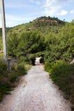 Rural road near Pu?�ol Valencia Royalty Free Stock Photo