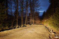 Rural road at night Royalty Free Stock Photos