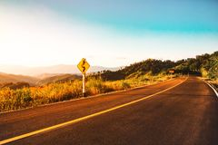 Rural road scene nature landscape background Royalty Free Stock Photo