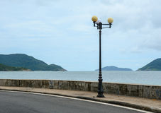 Rural road with the sea in Con Dao, Vietnam Royalty Free Stock Photography