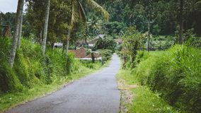 Rural road in Sediment District, Bali Island, Indonesia Stock Photo