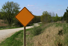 Rural Road Sign - blank Royalty Free Stock Photo
