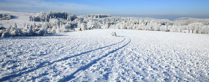 Rural road in snow. Stock Photo