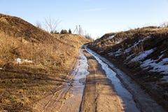 Rural road in spring Stock Image