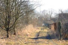 Rural road at spring. Royalty Free Stock Image
