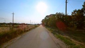 Rural road stock video footage