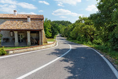 Rural road in Tuscany Royalty Free Stock Image