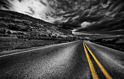 Rural road, USA royalty free stock photo
