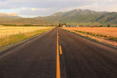 Rural road in Utah, USA. Stock Image