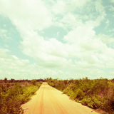 Rural road, vintage Stock Photography