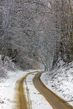 Rural road in winter Stock Photos