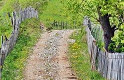 Rural Village Road in Romania stock photos
