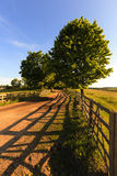 Rural road . wooden fence Royalty Free Stock Photography